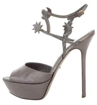 Sergio Rossi Embellished Platform Sandals