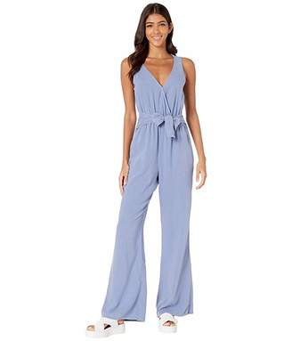 Bella Dahl Sleeveless Crossover Wide Leg Jumpsuit in Soft Touch Tencera