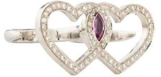 Diamond Heart Knuckleduster Ring
