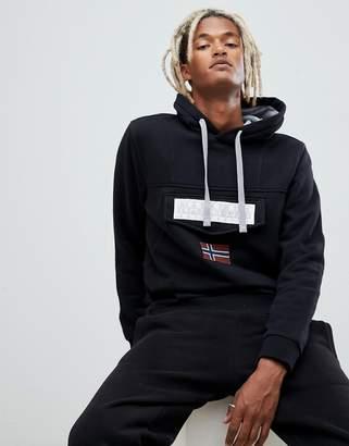 Napapijri Burgee logo hoodie in black