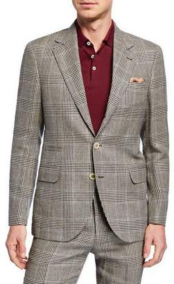 Brunello Cucinelli Men's Retro Plaid Two-Piece Linen/Wool Suit