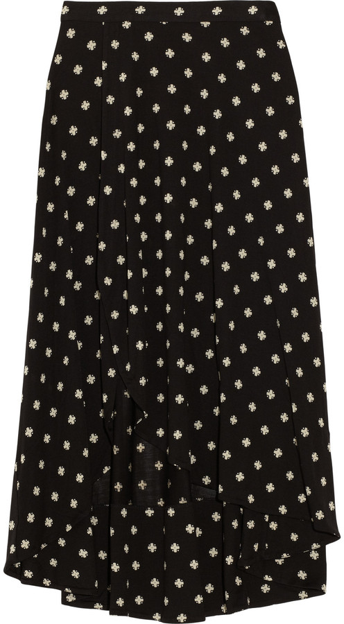 Marc by Marc Jacobs Georgia printed silk-blend jersey midi skirt