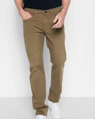 7 For All Mankind Total Twill The Straight with Clean Pocket in Rich Khaki