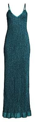 M Missoni Women's Solid Lurex Knit Maxi Dress