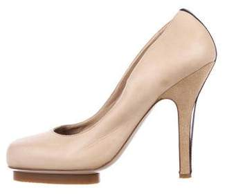 Acne Studios Leather Round-Toe Pumps