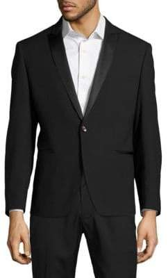 Calvin Klein Slim-Fit Wool Jacquard Evening Jacket
