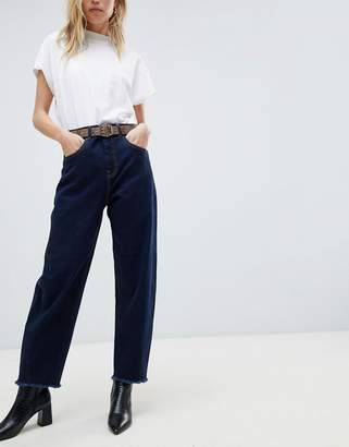 Whistles High Waist Barrel Straight Leg Jeans
