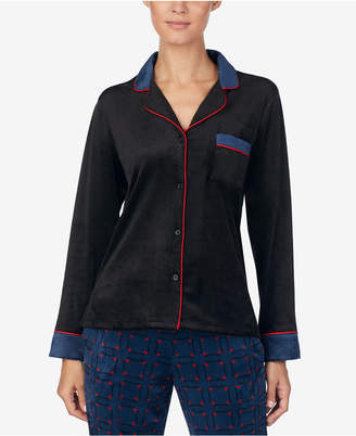 DKNY Notch-Collar Pajama Top