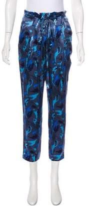 L'Agence Silk High-Rise Pants