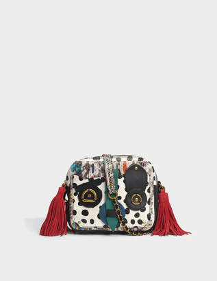Jerome Dreyfuss Katchina Crazy Leather Pascal Bag in Multicolour Calfskin