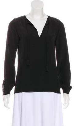 Vanessa Seward Long Sleeve Silk Blouse