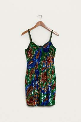 Urban Renewal Vintage One-of-a-Kind Bright Sequin Dress