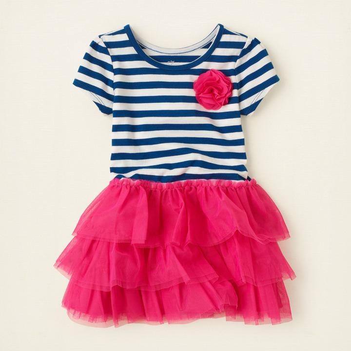Children's Place Striped tutu dress