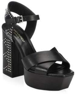 Saint Laurent Farrah Studded Platform Sandals