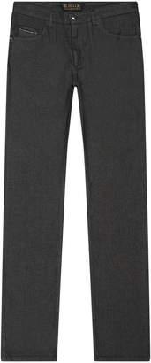 Zilli Logo Patch Slim Fit Jeans