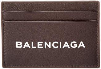 Balenciaga Everyday Logo Leather Card Case