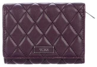 Tumi Quilted Leather Compact Wallet