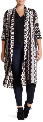 14th & Union Long Wavy Cardigan (Plus Size) $39.97 thestylecure.com