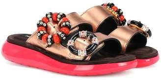 Marc Jacobs Sage embellished leather slides
