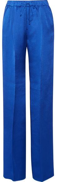 Max MaraMax Mara - Vortice Hammered Silk-satin Wide-leg Pants - Bright blue