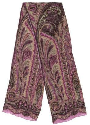 Etro Wool & Silk-Blend Patterned Scarf