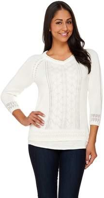 Liz Claiborne New York Pointelle Pullover Sweater