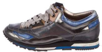 Lanvin Metallic Low-Top Sneakers