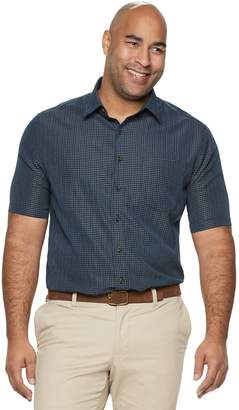 Croft & Barrow Big & Tall Classic-Fit Textured Microfiber Button-Down Shirt