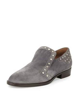 Laurence Dacade Jay Studded Suede Loafer, Gray $895 thestylecure.com