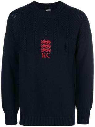 Kent & Curwen braided knit sweater
