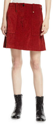McQ Major Patch-Pocket Short Skirt