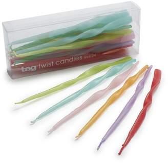 Tag TAG Twist Mini Taper Candles, Set of 24