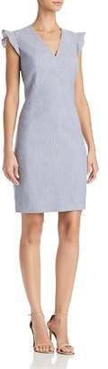 T Tahari Patty Ruffle-Sleeve Dress