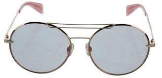 Rag & Bone Reflective Round Sunglasses