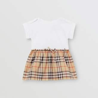 Burberry Childrens Vintage Check Detail Cotton Dress