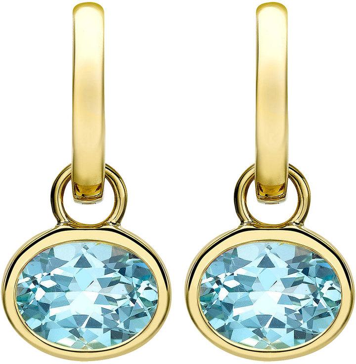 Drop Oval Blue Tpz Earrings