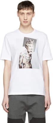 Neil Barrett White Tattooed Statue T-Shirt
