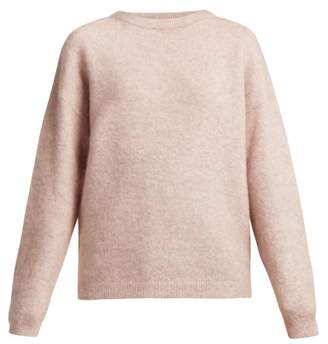 Acne Studios - Dramatic Mohair Blend Sweater - Womens - Light Pink