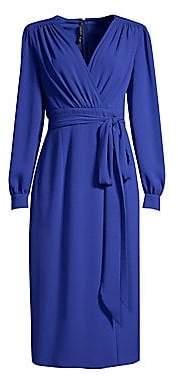Escada Women's Dlessa Long-Sleeve Belted Dress