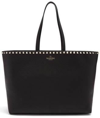Valentino - Rockstud Leather Tote Bag - Womens - Black