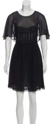See by Chloe Silk Overlay-Accented Dress w/ Tags