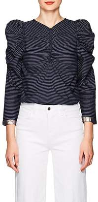Ulla Johnson Women's Posey Pinstriped Cotton Blouse