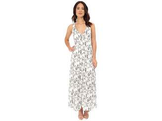BB Dakota Zana Shards Printed Hammered Crepe Maxi Women's Dress