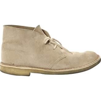 Clarks Beige Suede Boots