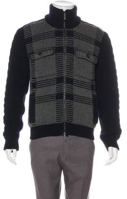 Etro Wool Zip-Up Jacket