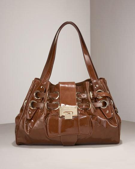 Jimmy Choo Patent Leather Riki Ring Bag