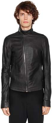 Rick Owens Mollino Zip Leather Biker Jacket
