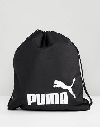 Puma Phase Drawstring Bag In Black 07494301