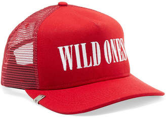 Amiri Wild Ones Embroidered Canvas And Mesh Baseball Cap - One size