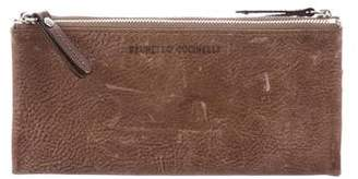 Brunello Cucinelli Distressed Leather Wallet